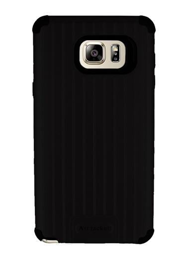 MobilCadde Eiroo Travel Samsung Galaxy Note 5 Ultra Koruma Siyah Kılıf Siyah